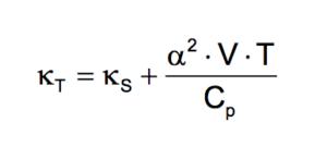 kT = kS +a-2×V×T×Cp-1