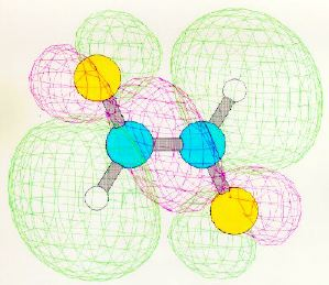 One of the signa-bonding molecular orbitals of trans-1,2- difluoroethene. Taken from a homework assignment in Chemistry 52.