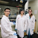 Vosburg Lab (L-R) Arthur Chang, Lee Joon Kim, and Shannon Wetzler