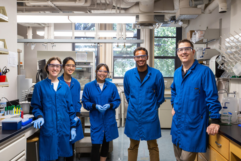 Students posed in the Haushalter Chembio lab