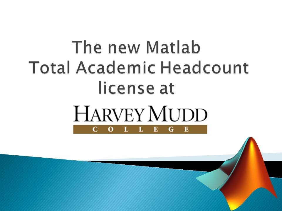New Matlab license for HMC | Computing and Information