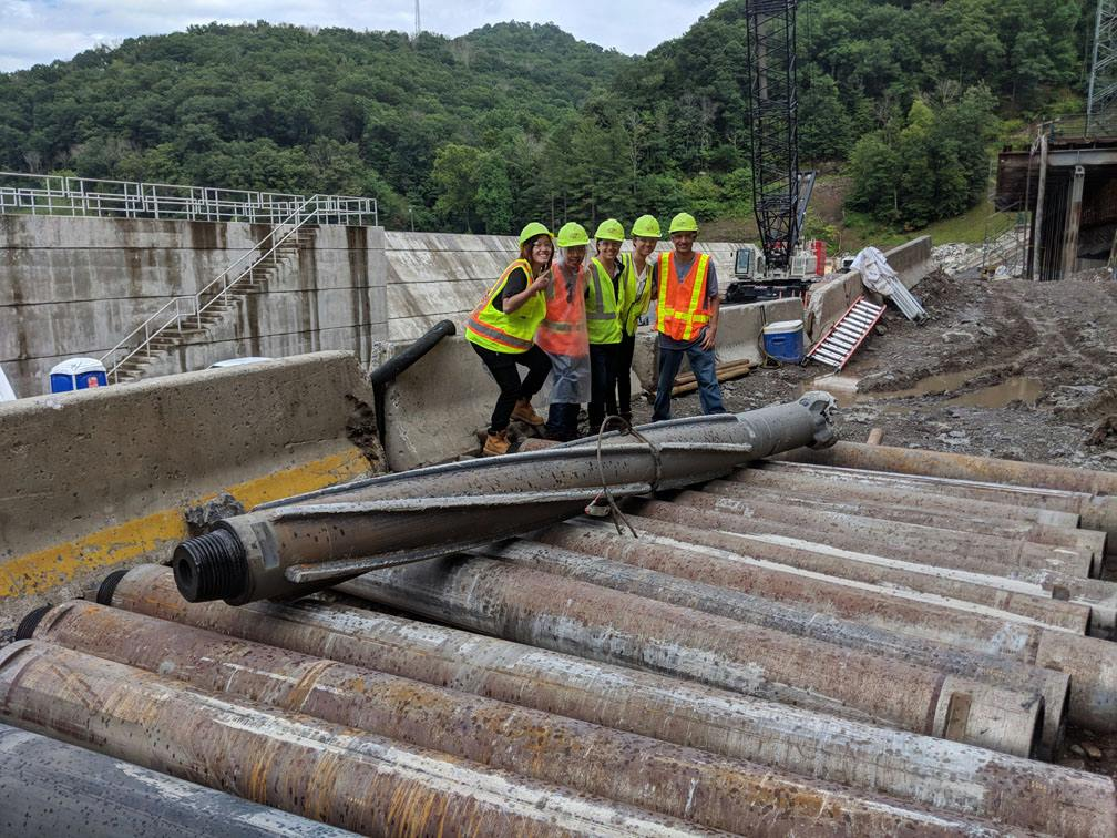 Harvey Mudd De Pietro Fellows At Bluestone Dam in Virginia