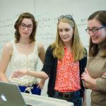 Vivien Hamilton and students