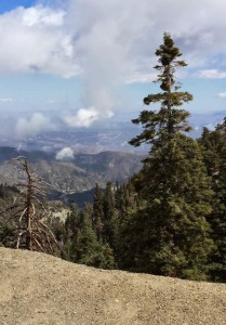 View from mountain in Southern California