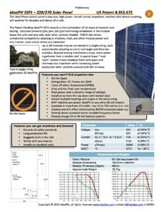 idealPV SSP1 - 220/270 Solar Panel - US Patent 8,952,672