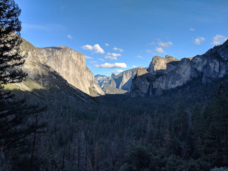 View of El Capitan and Half Dome in Yosemite National Park