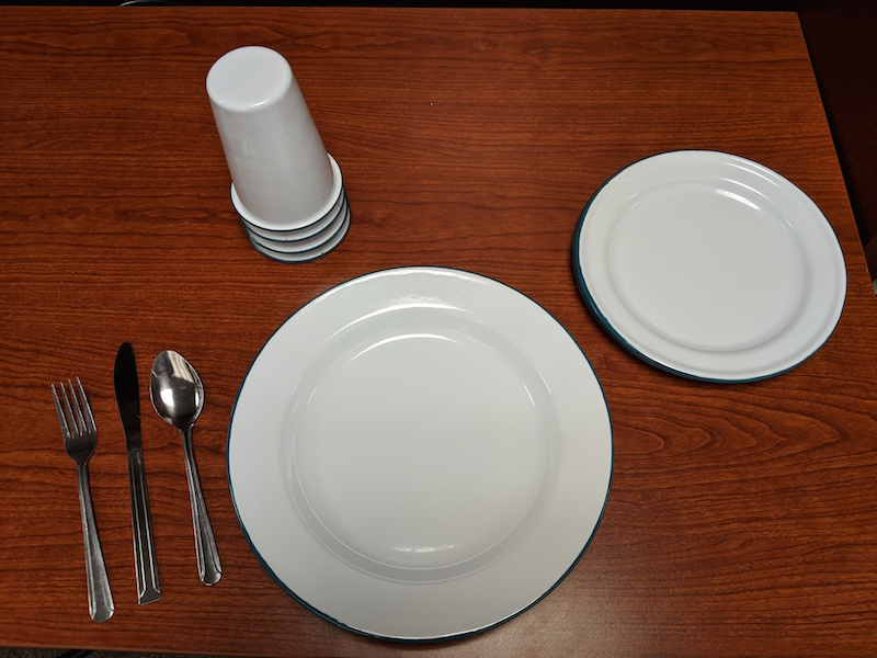 ShareWare plates, cups, and utensils