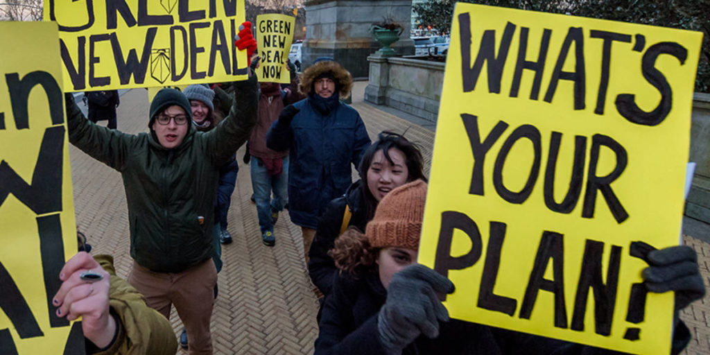 Green New Deal Protesters
