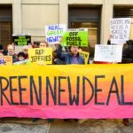 Green New Deal Supporters Rallying