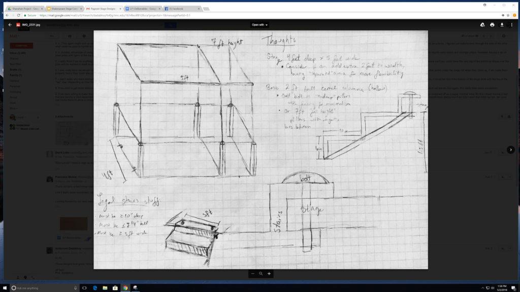 Sketch plan of cart.