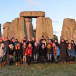 Group of students at Stonehenge.