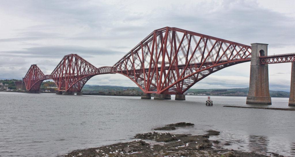 The Forth Rail Bridge, a UNESCO World Heritage Site near Edinburgh