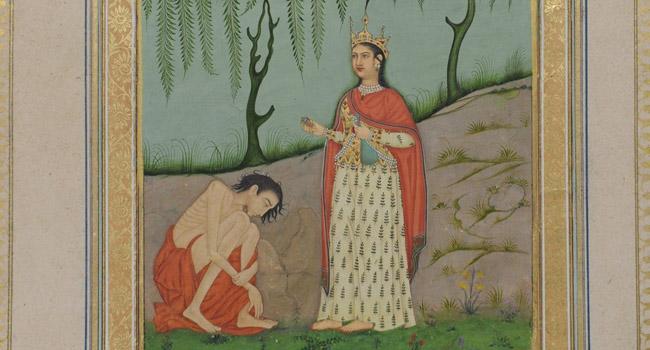 painting, Leyla and Majnun, 18th century