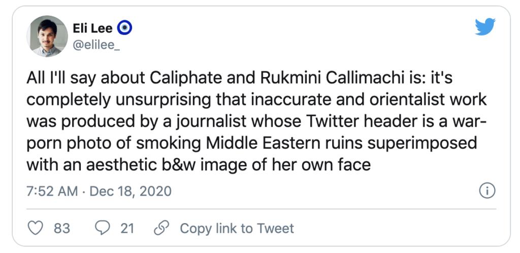 Image of Tweet by Eli Lee, Dec. 18, 2020