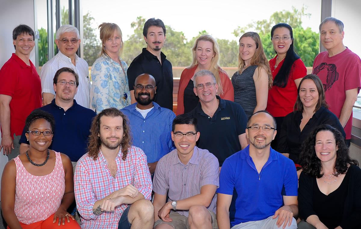 Mathematics faculty group photo.
