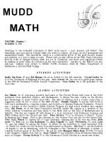 Cover of 1984 MuddMath Newsletter.