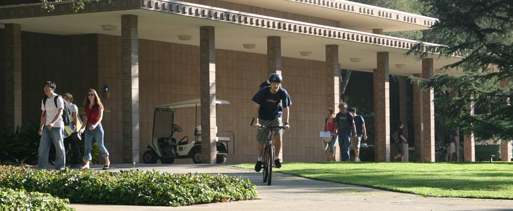 students walking past platt campus center