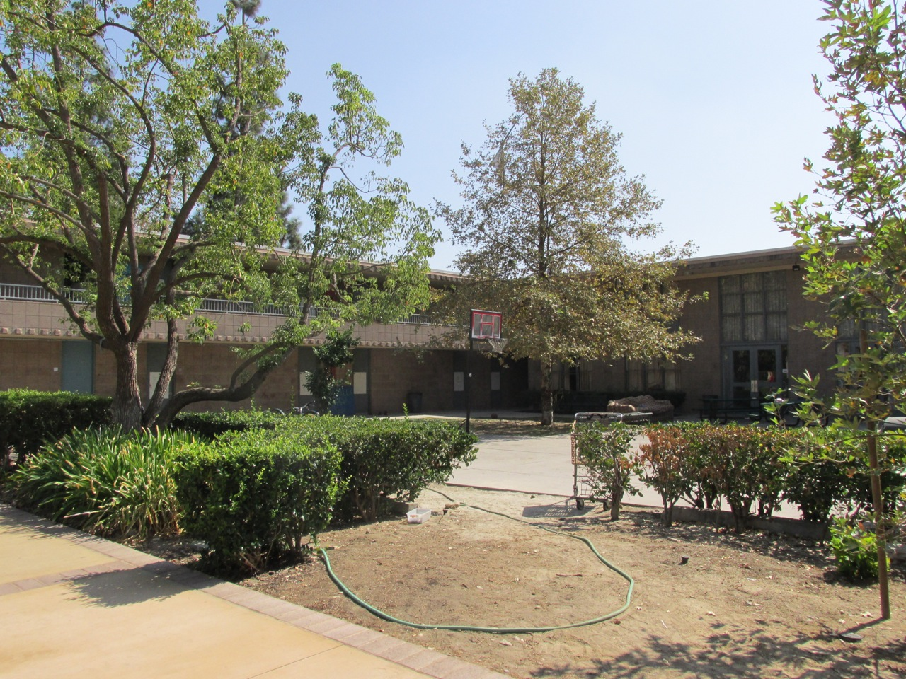 West Dorm courtyard.