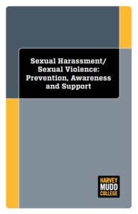 Screenshot of Cover of Sexual Harassment, Sexual Violence: Prevention, Awareness and Support Document