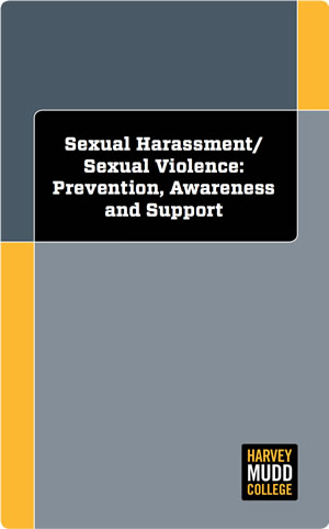 Cover of Sexual Harassment/Sexual Violence support guide.