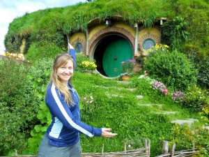 Heather Seaman '16 at Hobbiton, New Zealand
