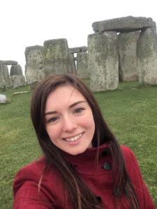 Marianna in front of Stonehenge.