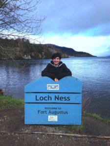 Casey Gardner at Loch Ness.
