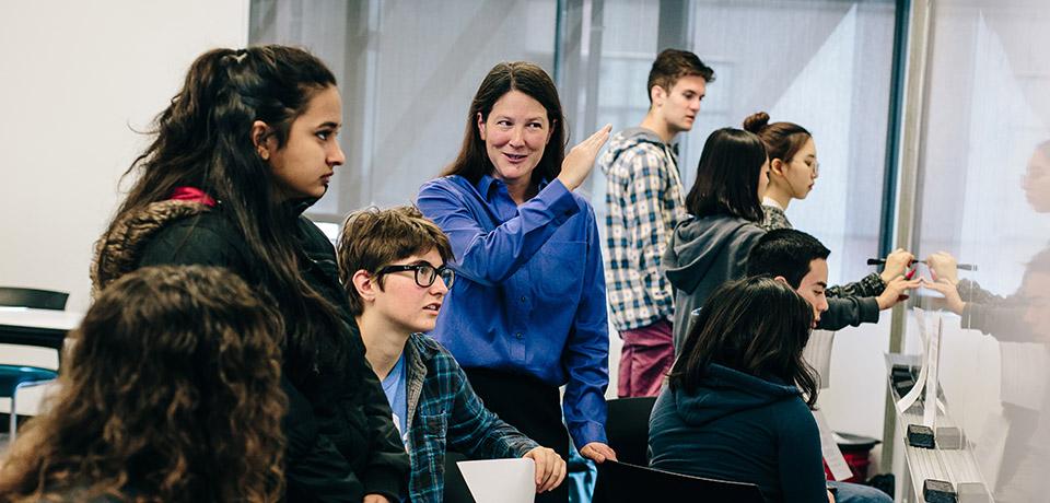 Prof. Theresa Lynn teaching students