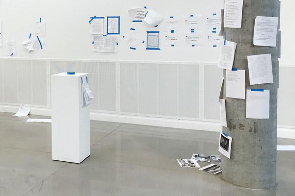 Display of art in HMC Sprague Gallery