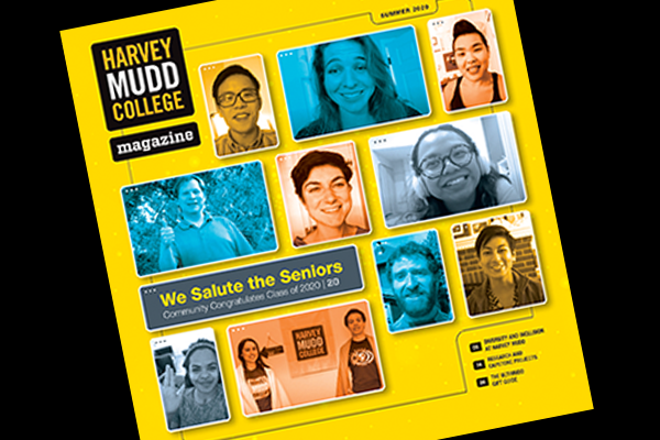 Cover of summer 2020 Harvey Mudd College Magazine