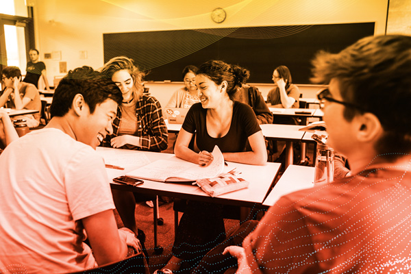 Students in class at Harvey Mudd