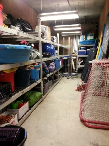 ASHMC Storage holds everything from fencing equipment to surfboards and hockey nets!