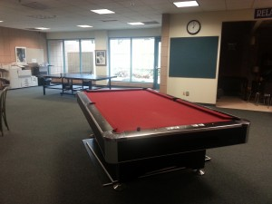 The LAC offers pool and ping pong tables as well as a foosball table.