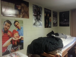 This is where the magic happens, and my magic I mean the few and far between hours (but I really mean minutes) of sleep. My bed and my posters! Paramore, Taylor Swift, The Dark Knight Rises (Bane), and Kings hockey are what I'm all about in short!